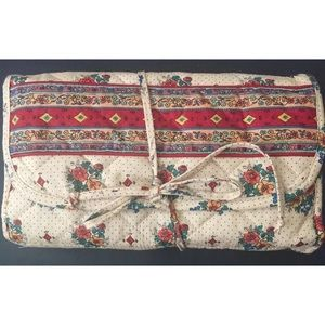 Celebrity quilted travel toiletry kit